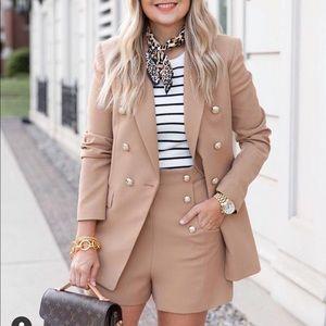 Zara double breast button blazer bloggers favorite